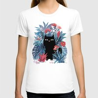 T-shirts featuring Popoki in Blue by littleclyde