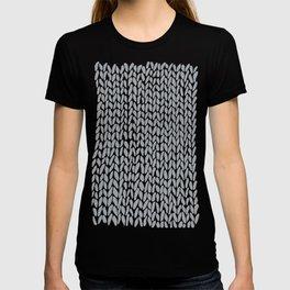 Hand Knit Light Grey T-shirt