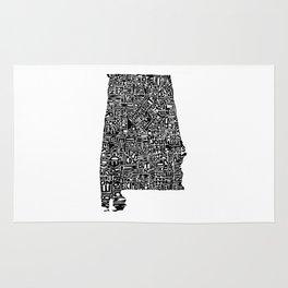 Typographic Alabama Rug