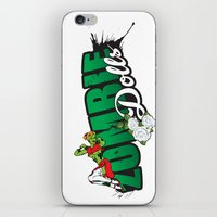 logo iPhone & iPod Skins featuring Logo by Zombie Dolls