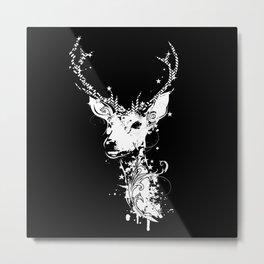 A white deer head Metal Print