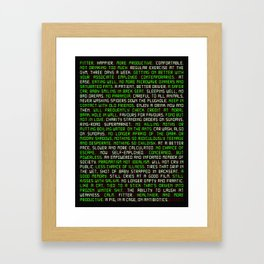 Fitter. Happier. More Productive. Framed Art Print