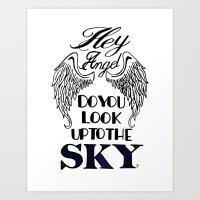 larry stylinson Art Prints featuring Hey Angel (Larry Stylinson) by Arabella
