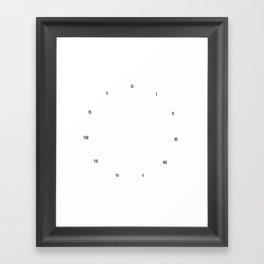 ELEVENTH HOUR CLOCK Framed Art Print