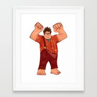 wreck it ralph Framed Art Prints featuring I'm Gonna Wreck It! by shaunaoconnor
