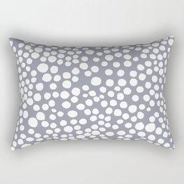 Random Dots in Blue Seamless Pattern Rectangular Pillow