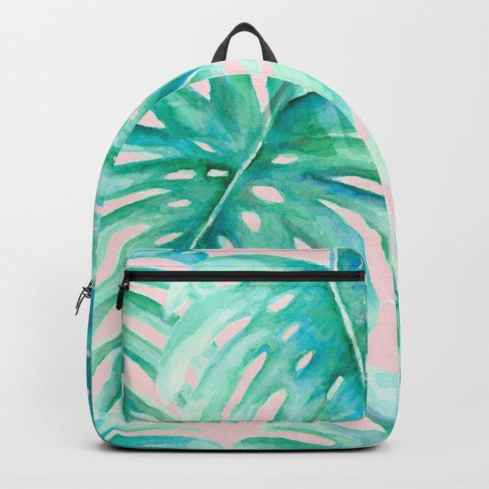 Paradise Palms Blush Backpack