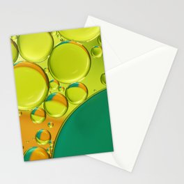 Bubble Abstract with a Twist of Lime Stationery Cards