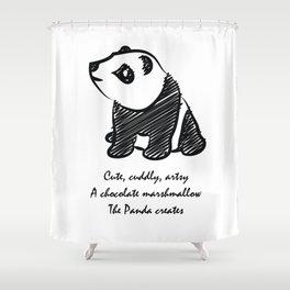 Gothic Panda  Shower Curtain