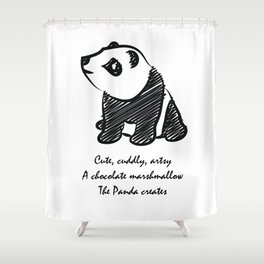 Gothic Panda  Shower Curtain