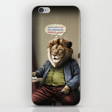 Hungry Lion iPhone & iPod Skin