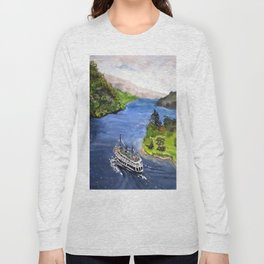River Boat Journey Long Sleeve T-shirt