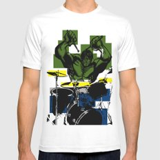 Smash the Drums... Mens Fitted Tee White MEDIUM