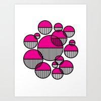 Venn Abstract Magenta Art Print