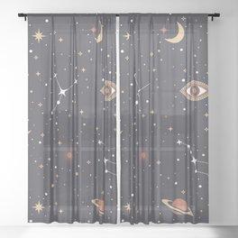 Mystical Galaxy Sheer Curtain