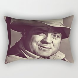 Dan Blocker, Vintage Actor Rectangular Pillow