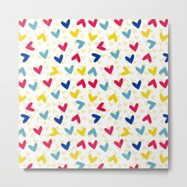 Color hearts Metal Print