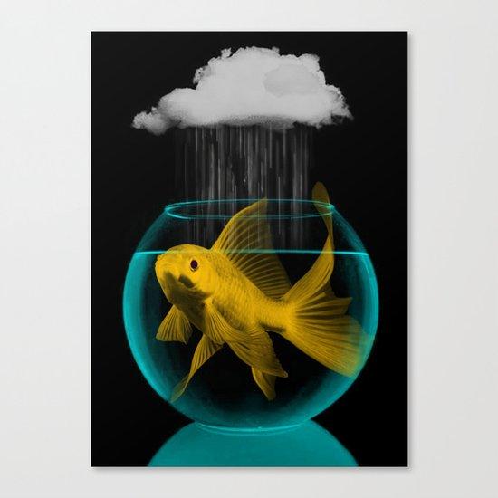 A tight spot in the rain Canvas Print