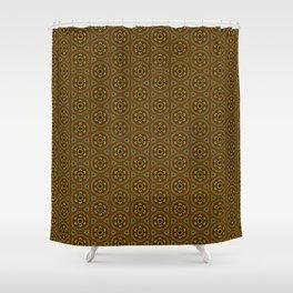Rasta Folk Traditional Floral Pattern Hand-drawn Handmade Shower Curtain