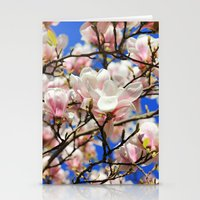 magnolia Stationery Cards featuring  Magnolia. by Assiyam