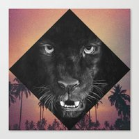 panther Canvas Prints featuring Panther by Jamie Mitchell