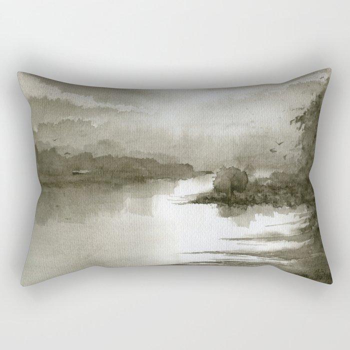 A Splash of Sepia Rectangular Pillow