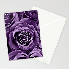 Rose Bouquet in Purple Stationery Cards