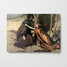"""""""Father, Father, What Ails Thee"""" by Arthur Rackham Metal Print"""