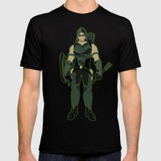 Green Arrow Mens Fitted Tee Black SMALL
