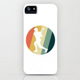 Baseball Player Vintage Pitcher Softball Baseball Batter Hitters Gift iPhone Case
