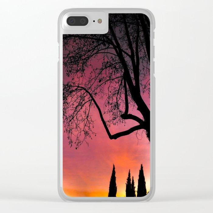 Sunset Dream Clear iPhone Case