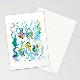 Funny fishes Stationery Cards