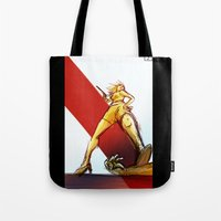 kindle Tote Bags featuring Femme Fatale by garciarts