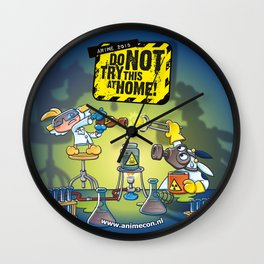 Anime 2015: Do Not Try This At Home! Wall Clock