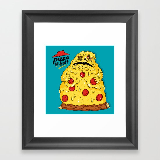 Pizza The Hutt Framed Art Print