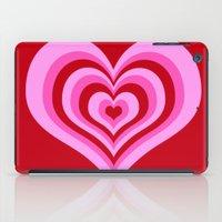 powerpuff girls iPad Cases featuring powerpuff hearts by tukylampkin