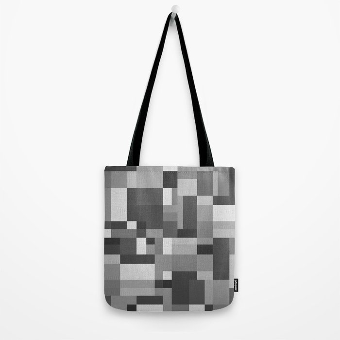 Map Tex Black and White Tote Bag