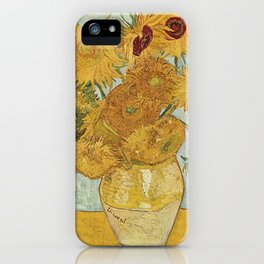STILL LIFE: VASE WITH TWELVE SUNFLOWERS - VAN GOGH iPhone Case