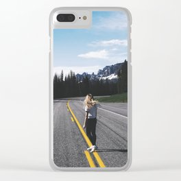 Somewhere, USA Clear iPhone Case