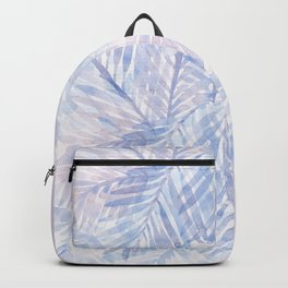 Muted Blue Palm Leaves 02 Backpack