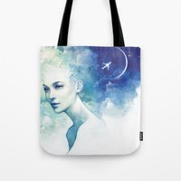 flight Tote Bags featuring Flight by Anna Dittmann