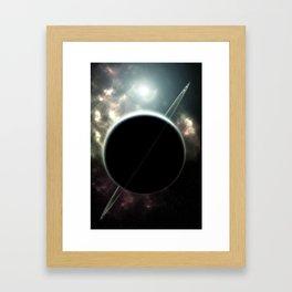 Ringed Planet Deep Space Framed Art Print