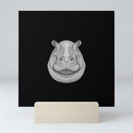 Icons of Africa - Hippo Mini Art Print