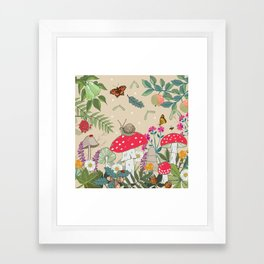 Toadstools in the Woods Framed Art Print