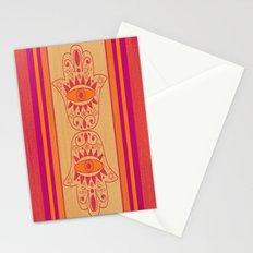Double Orange Denim Hamsa Stationery Cards