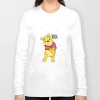 pooh Long Sleeve T-shirts featuring Winnie the Pooh by laura nye.