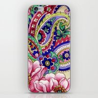 deco iPhone & iPod Skins featuring Floral Deco by Elena Indolfi