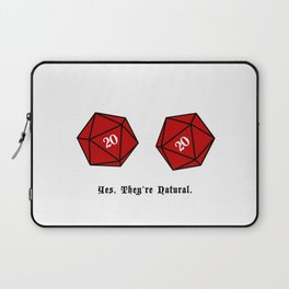 Yes, They're Natural. D20 Laptop Sleeve