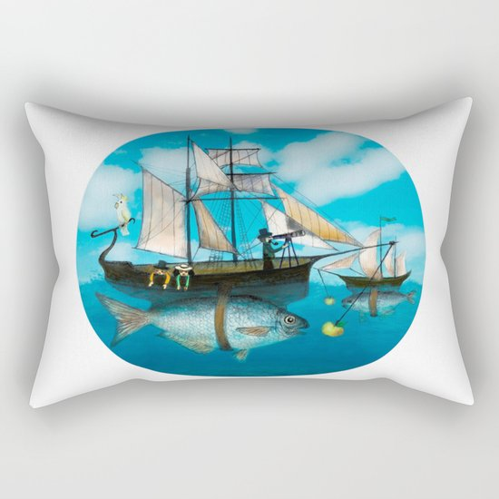 Sea Journey Rectangular Pillow