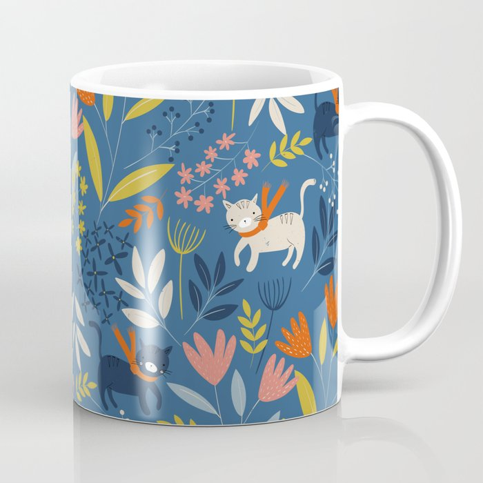 Cats & Flora Coffee Mug